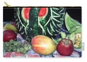 Watermelon Swan Carry-all Pouch by Sally Weigand