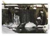 Waterwheel And Stream In Winter Carry-all Pouch