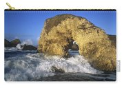 Wave Splashing Against Natural Arch Carry-all Pouch