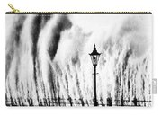 Waves Smashing Seawall, 1938 Carry-all Pouch
