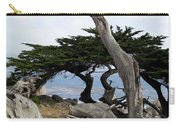 Weathered Tree On California Coast Carry-all Pouch