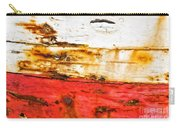 Weathered With Red Stripe Carry-all Pouch by Silvia Ganora