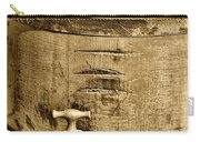 Weathered Wooden Bucket In Sepia Carry-all Pouch