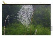 Web Over Foggy Lake Carry-all Pouch