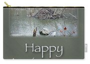 Wedding Anniversary Card - Beaver Lodge Carry-all Pouch