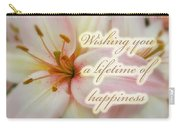 Wedding Happiness Greeting Card - Lilies Carry-all Pouch