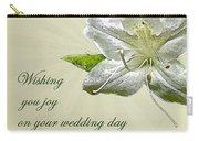Wedding Wishes Card - White Azalea Carry-all Pouch