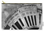 Wee Bryan Texas Detail In Black And White Carry-all Pouch by Nikki Marie Smith