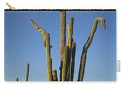 Weird Giant Saguaro Cactus With Blue Sky Carry-all Pouch