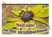 Welcome New Neighbor Card - Bee And Black-eyed Susan Carry-all Pouch