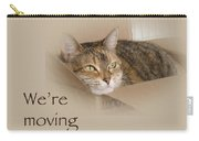 We're Moving Notification Greeting Card - Lily The Cat Carry-all Pouch