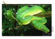 West Amazonian Emerald Tree Boa Carry-all Pouch