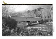 West Cornwall Connecticut Covered Bridge Black And White Carry-all Pouch