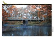 West Valley Green Road Bridge Along The Wissahickon Creek Carry-all Pouch by Bill Cannon