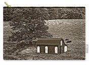 West Virginia Sepia Carry-all Pouch