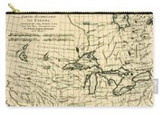 Western Canada And The Five Great Lakes Carry-all Pouch by Guillaume Raynal