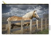 Western Palomino Horse In Alberta Canada No.1335 Carry-all Pouch