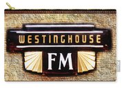 Westinghouse Fm Logo Carry-all Pouch