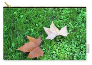 Wet Leaves On Grass Carry-all Pouch