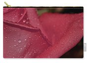 Wet Pink Rose Macro Carry-all Pouch