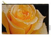 Wet Yellow Rose Carry-all Pouch