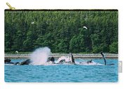 Whales Bubble Net Feeding Carry-all Pouch