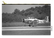 Wheels Up Black And White Carry-all Pouch