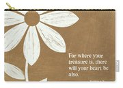 Where Your Heart Is Carry-all Pouch by Linda Woods