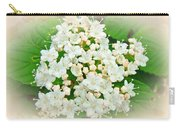 White And Cream Hydrangea Blossoms Carry-all Pouch