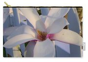 White And Pink Magnolia Carry-all Pouch