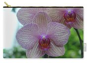 White And Pink Orchid Carry-all Pouch