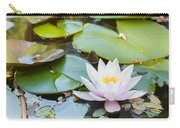 White And Pink Water Lily Carry-all Pouch