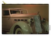 White Antique Automobile Carry-all Pouch
