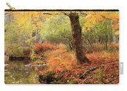 White Ash And Stream In Autumn Carry-all Pouch