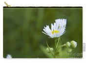 White Aster Wildflower Carry-all Pouch