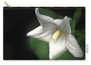 White Balloon Flower-faux Painting Carry-all Pouch
