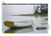 White Boat On A Misty Morning Carry-all Pouch