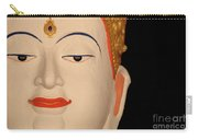 White Buddha Face Carry-all Pouch