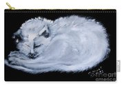 White Cat Sleeping Carry-all Pouch