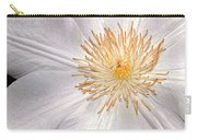 White Clematis Carry-all Pouch