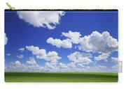 White Clouds In The Sky And Green Meadow Carry-all Pouch
