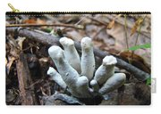 White Club Mushroom - Clavulina  Carry-all Pouch