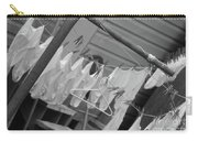 White  Cotton Laundry Blowing In The Wind Carry-all Pouch