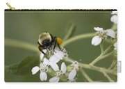White Crownbeard Wildflowers Pollinated By A Bumble Bee With His Bags Packed Carry-all Pouch