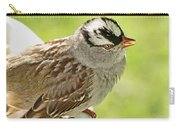 White Crowned Sparrow II Carry-all Pouch