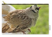 White Crowned Sparrow Sends A Warning Carry-all Pouch