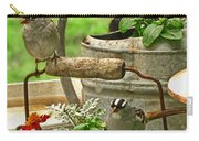 White Crowned Sparrows On The Flower Pot  Carry-all Pouch