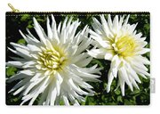 White Dahlias In Autumn  Carry-all Pouch