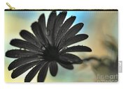 White Daisy Silhouette Carry-all Pouch