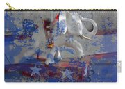 White Elephant Ride Abstract Carry-all Pouch